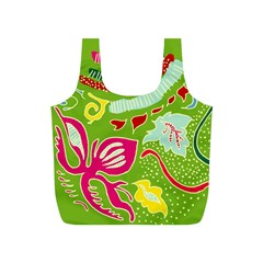 Green Organic Abstract Full Print Recycle Bags (s)  by DanaeStudio