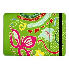 Green Organic Abstract Samsung Galaxy Tab Pro 10 1  Flip Case by DanaeStudio