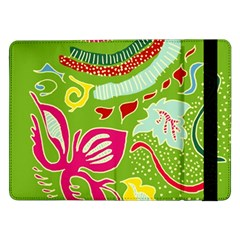 Green Organic Abstract Samsung Galaxy Tab Pro 12 2  Flip Case by DanaeStudio