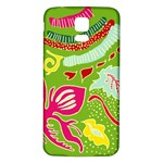 Green Organic Abstract Samsung Galaxy S5 Back Case (White)