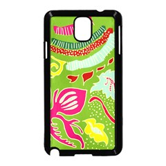 Green Organic Abstract Samsung Galaxy Note 3 Neo Hardshell Case (black) by DanaeStudio