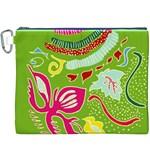 Green Organic Abstract Canvas Cosmetic Bag (XXXL)