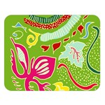 Green Organic Abstract Double Sided Flano Blanket (Large)