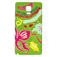 Green Organic Abstract Galaxy Note 4 Back Case by DanaeStudio