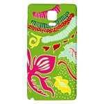 Green Organic Abstract Galaxy Note 4 Back Case