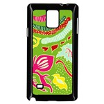 Green Organic Abstract Samsung Galaxy Note 4 Case (Black)