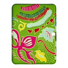 Green Organic Abstract Samsung Galaxy Tab 4 (10 1 ) Hardshell Case  by DanaeStudio