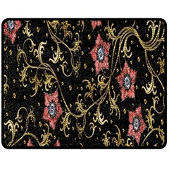 Floral Pattern Background Double Sided Fleece Blanket (Medium)  by Zeze