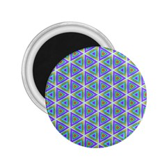 Colorful Retro Geometric Pattern 2 25  Magnets by DanaeStudio