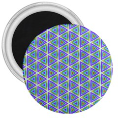 Colorful Retro Geometric Pattern 3  Magnets by DanaeStudio