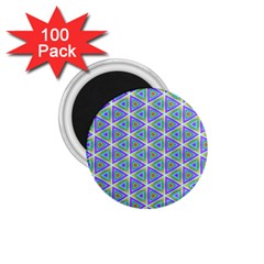 Colorful Retro Geometric Pattern 1 75  Magnets (100 Pack)  by DanaeStudio