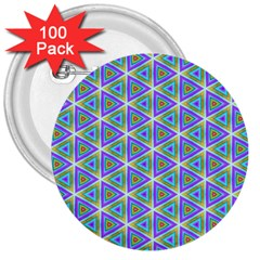 Colorful Retro Geometric Pattern 3  Buttons (100 Pack)  by DanaeStudio