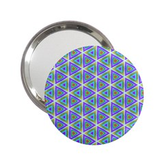 Colorful Retro Geometric Pattern 2 25  Handbag Mirrors by DanaeStudio