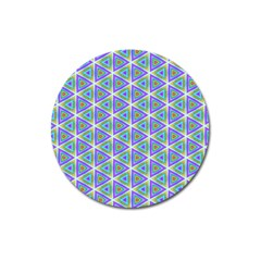 Colorful Retro Geometric Pattern Magnet 3  (round) by DanaeStudio
