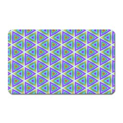 Colorful Retro Geometric Pattern Magnet (rectangular) by DanaeStudio