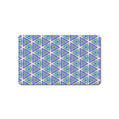 Colorful Retro Geometric Pattern Magnet (name Card) by DanaeStudio