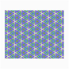 Colorful Retro Geometric Pattern Small Glasses Cloth by DanaeStudio
