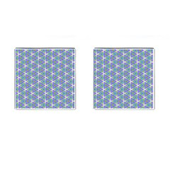 Colorful Retro Geometric Pattern Cufflinks (square) by DanaeStudio