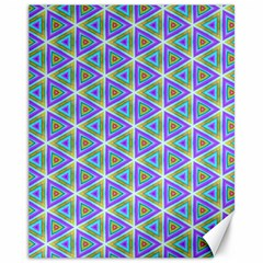 Colorful Retro Geometric Pattern Canvas 11  X 14   by DanaeStudio