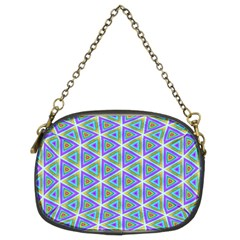 Colorful Retro Geometric Pattern Chain Purses (two Sides)  by DanaeStudio