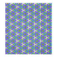 Colorful Retro Geometric Pattern Shower Curtain 66  X 72  (large)  by DanaeStudio