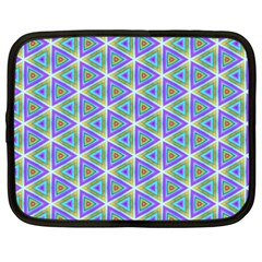 Colorful Retro Geometric Pattern Netbook Case (xxl)  by DanaeStudio
