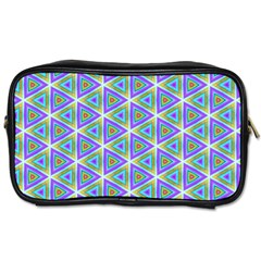Colorful Retro Geometric Pattern Toiletries Bags 2 Side by DanaeStudio