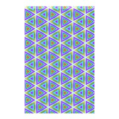 Colorful Retro Geometric Pattern Shower Curtain 48  X 72  (small)  by DanaeStudio