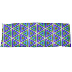 Colorful Retro Geometric Pattern Body Pillow Case (dakimakura) by DanaeStudio