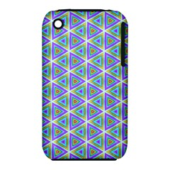 Colorful Retro Geometric Pattern Apple Iphone 3g/3gs Hardshell Case (pc+silicone) by DanaeStudio