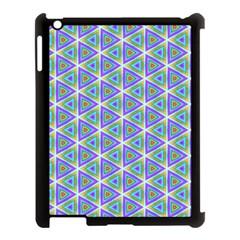 Colorful Retro Geometric Pattern Apple Ipad 3/4 Case (black) by DanaeStudio