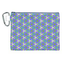 Colorful Retro Geometric Pattern Canvas Cosmetic Bag (xxl) by DanaeStudio