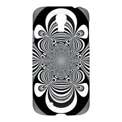 Black And White Ornamental Flower Samsung Galaxy S4 I9500/i9505 Hardshell Case by designworld65