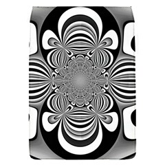 Black And White Ornamental Flower Flap Covers (s)  by designworld65