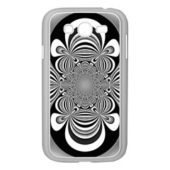 Black And White Ornamental Flower Samsung Galaxy Grand Duos I9082 Case (white) by designworld65