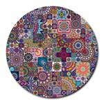 Ornamental Mosaic Background Round Mousepads