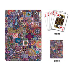 Ornamental Mosaic Background Playing Card by TastefulDesigns