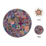 Ornamental Mosaic Background Playing Cards (Round)