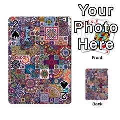 Ornamental Mosaic Background Playing Cards 54 Designs  by TastefulDesigns