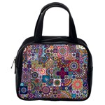 Ornamental Mosaic Background Classic Handbags (One Side)
