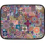 Ornamental Mosaic Background Fleece Blanket (Mini)
