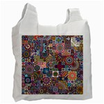 Ornamental Mosaic Background Recycle Bag (One Side)