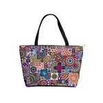 Ornamental Mosaic Background Shoulder Handbags