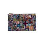 Ornamental Mosaic Background Cosmetic Bag (Small)