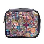 Ornamental Mosaic Background Mini Toiletries Bag 2-Side