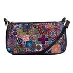 Ornamental Mosaic Background Shoulder Clutch Bags