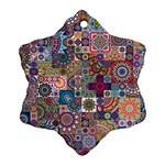 Ornamental Mosaic Background Ornament (Snowflake)