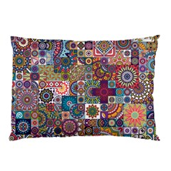 Ornamental Mosaic Background Pillow Case (two Sides) by TastefulDesigns