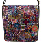 Ornamental Mosaic Background Flap Messenger Bag (S)