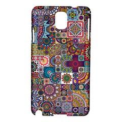 Ornamental Mosaic Background Samsung Galaxy Note 3 N9005 Hardshell Case by TastefulDesigns